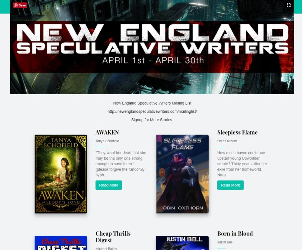 New England Speculative Writers Giveaway